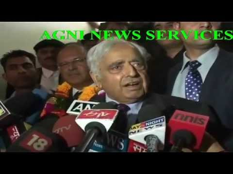 SRINAGAR: MUFTI MOHAMMED SAYEED ADDRESSING PRESS