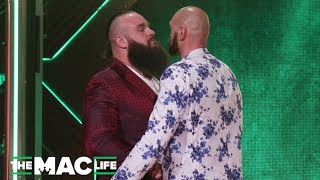 Tyson Fury and Braun Strowman face off after WWE match announced