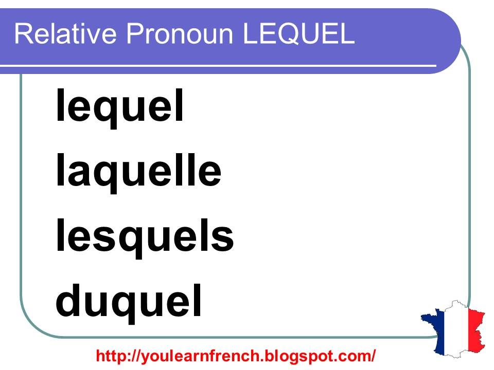 Learn French - Unit 7 - Lesson L - Lequel, laquelle - YouTube