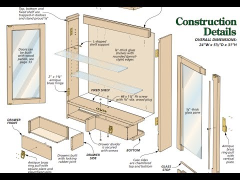 Cabinet Plans How To Build A Cabinet With Plans