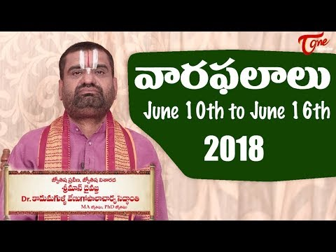 Rasi Phalalu | June 10th to June 16th 2018 | Weekly Horoscope 2018 | TeluguOne