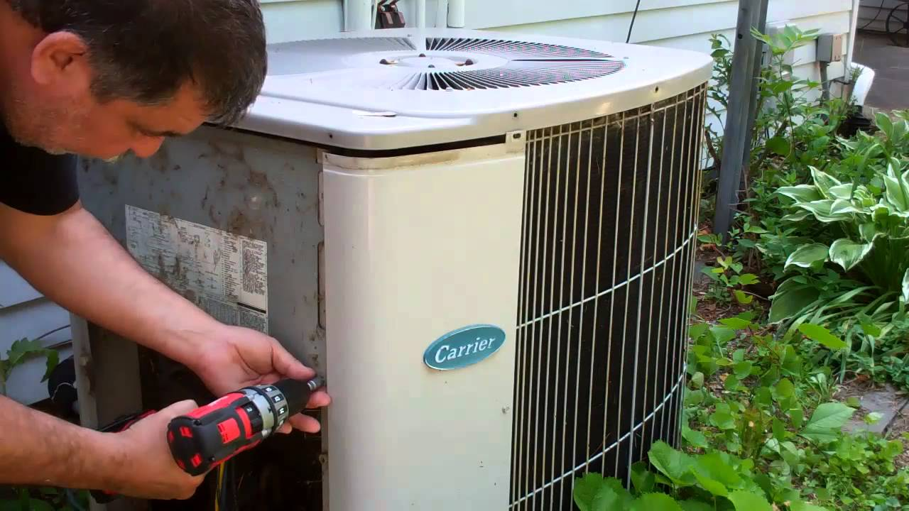 cleaning your air conditioning unit youtube. Black Bedroom Furniture Sets. Home Design Ideas