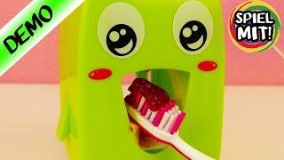 KINDER ZAHNPASTA SPENDER | Richtig Zähneputzen mit süßem Kawaii Zähnchen |Zahnpflege spielend lernen