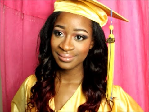 2014 easy graduation cap hairstyle tutorial   youtube