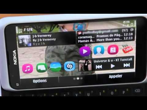 NOKIA E7 Symbian Anna Demo Video