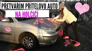 Přetvářím PŘÍTELOVO auto na holčičí!  | Domi Novak