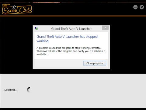 GTA V Has Stopped Working