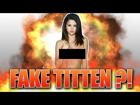 Selena Gomez hat FAKE TITTEN