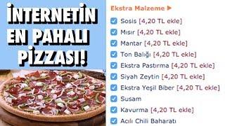 Türk İnternetinin En Pahalı Pizzasını Yaptırdık - Ennn Karışık Pizza