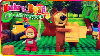 ♥ Masha and the Bear (Маша и Медведь) - Forest Heroes 3 Lumberjack Explusion (Episode 9)