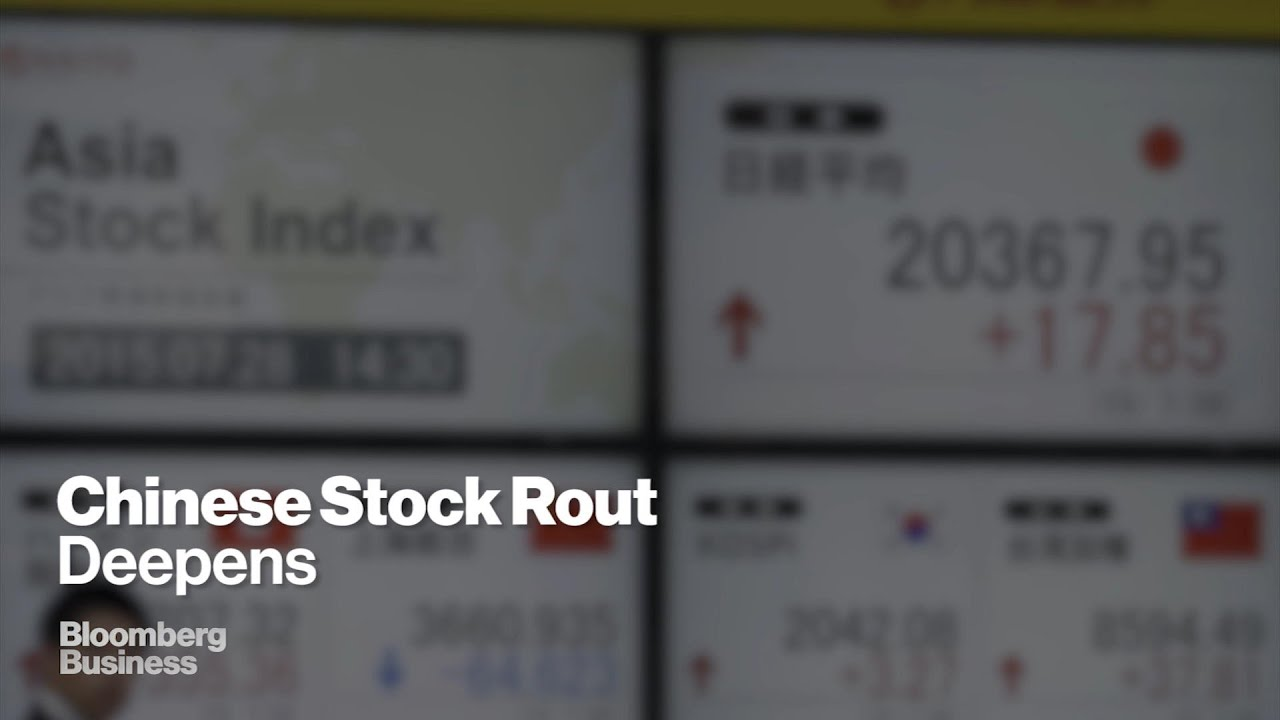 Chinese Government Support Tested as Stocks Extend Rout