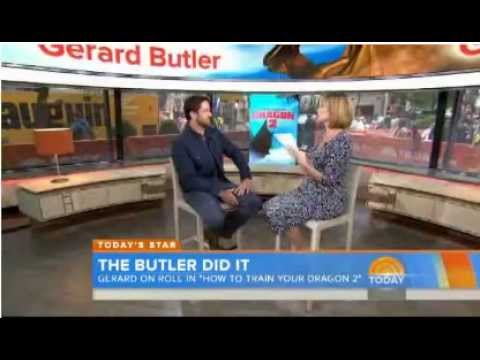 Gerard Butler on Today Show - 12th June 2014