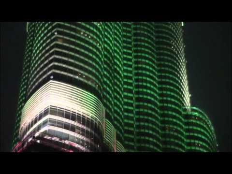 Burj Khalifa at night, Dubai, United Arab Emirates 13 ドバイのブルジュ・ハリファ夜 Burj Khalifa al atardecer
