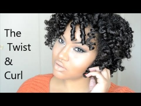 Natural Hair The Twist And Curl No Heat Curls Youtube