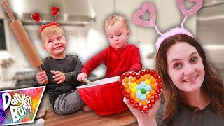Valentine's Rainbow Cookies DIY with Skittles!! 🌈