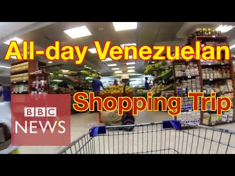 Venezuela: How long does it take to buy 8 basic goods? BBC News