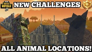 New Fortnite Challenges | Locations On The Hidden Animals | Hidden Dusty Depot Map