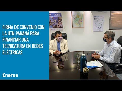 Enersa firmó un convenio con la UTN Paraná