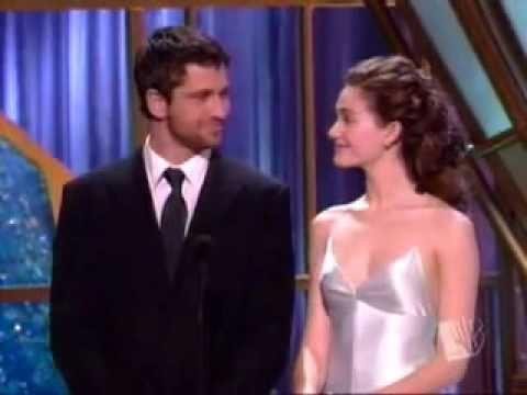 Emmy Rossum & Gerard Butler at Critics Choice Award 2005 - YouTube Gerard Butler