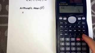 Calculating Mean using the calculator (Casio fx-991MS)