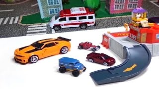 Lego Stop Motion Play Doh animation, police cars, Spiderman, машинки и пластилин