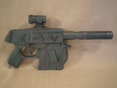 Vintage Marx Toys M 240 Plastic Toy Machine Pistol