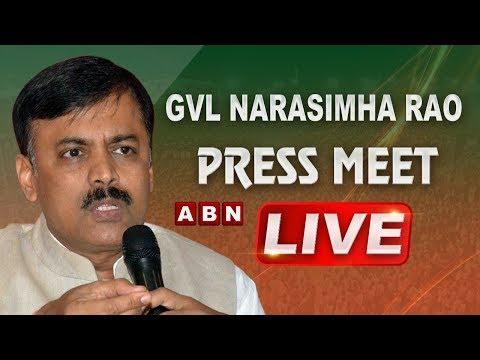 BJP Leader GVL Narasimha Rao Press Meet Live   ABN LIVE