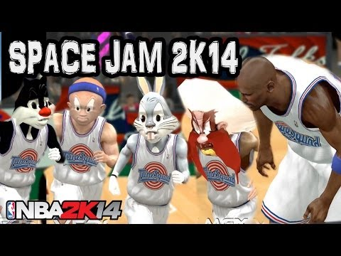 Space Jam NBA 2K14 Mod - The Ultimate Dunk Contest Game HD