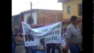 Entrada de gremios fiestas de san Isidro en Jamay Jalisco