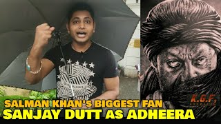 Salman Khan's Biggest Fan REACTION on Sanjay Dutt as ADHEERA in KGF Chapter 2 | Thanos vs Adheera