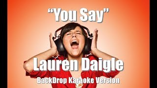 "Download Lagu Lauren Daigle ""You Say"" BackDrop Christian Karaoke Gratis STAFABAND"