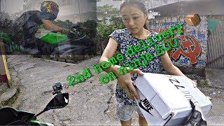 2nd home delivery 📦 on ninja 300 , siliguri darjeeling more