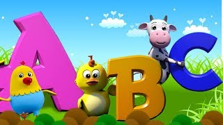 ABC Canção | aprender alfabetos | Canções dos miúdos | português rima | ABC Song | Farmees Português