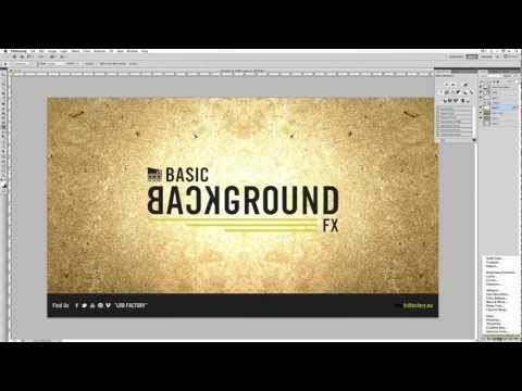 Photoshop Tutorial: How to Create a Textured Background