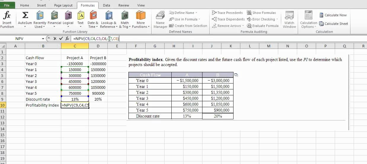 Npv Calculator Excel Template