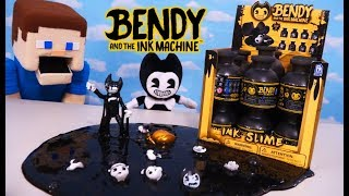 Bendy and the Ink Machine INK SLIME Bottle Figure Heads Series 1 Case Unboxing