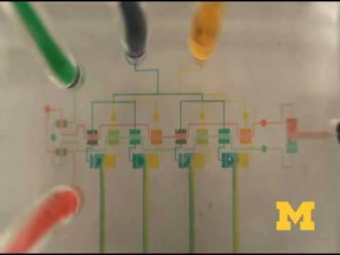 Microfluidic integrated circuit
