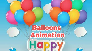 Balloons Animation |How to create custom animations of balloons in PowerPoint| Motion Graphics