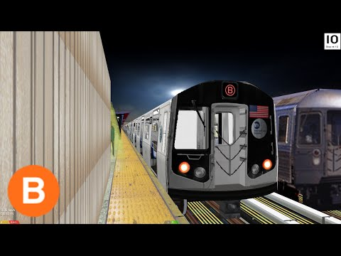 OpenBVE: (B) to Brighton Beach | CPW Lcl | 6 Ave Exp | R160-Alstom