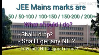 JEE Mains Expected Cut-off Percentile/ Shall I drop/ Shall I get NIT or IIIT