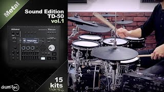 Roland TD-50 Metal Sound Edition with drum-tec electronic drums