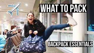 What to Pack for Vacation + My Carry-on/Backpack Essentials!!