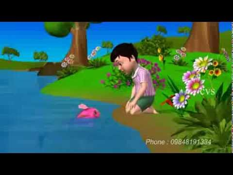 Machli jal ki rani hai   Fish 3D Animation Hindi Nursery rhymes...