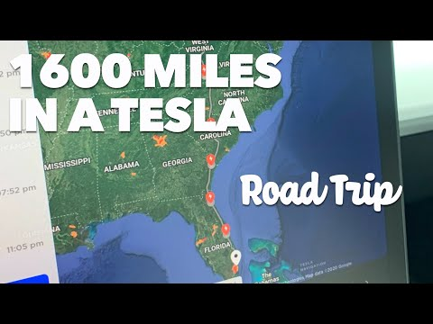 1600 Miles in a Tesla 24 hour Road Trip