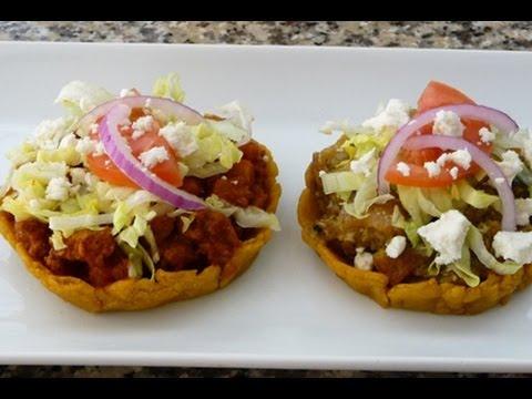 Receta Sopes de Chicharron en Salsa Verde y Picadillo en Salsa de ...