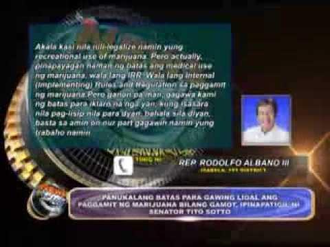 Sen. Tito Sotto stops proposal of Marijuana legalization