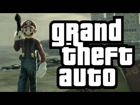 GTA 4: Mario in GTA! - (Mario Bros. Mod Funny Moments)