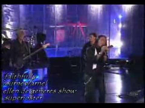 journey band greatest hits. JOURNEY ON ELLEN DE GENERES
