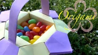 How To Make A Easter Origami Basket Tutorial