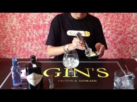 Gintonic con pepino de ginebra hendrick's